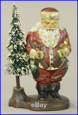 Rarest IVES 1890 Blakeslee Santa Bank with removable wire bottle brush tree