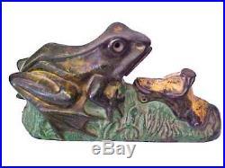 Reduced Original J. & E. Stevens Two Frogs Cast Iron Mechanical Bank