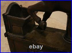S25 Antique 1885 Trick Pony Cast Iron Mechanical Bank