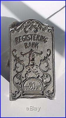 SCARCE Antique Cast Iron General Butler BANK J. E. Stevens c1884 Books $5000