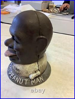SMILIN' SAM FROM ALABAM', THE SALTED PEANUT MAN Cast Iron Bank