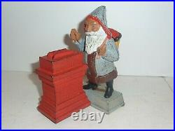 Santa Claus By Chimney Mechanical Bank Cast Iron