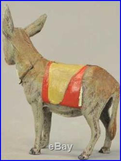 Santa's EARLY Antique German Cast Iron Christmas Donkey CANDY CONTAINER or BANK