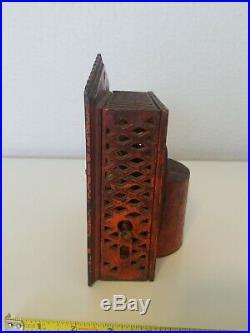 Shepard Hardware Company Punch & Judy Cast Iron Mechanical Bank! 1884. RARE