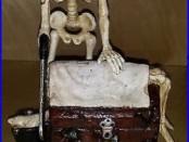 Skeleton Mechanical Bank Cast Iron 1865