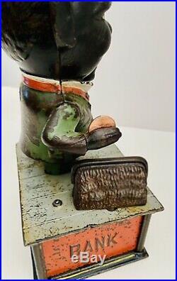 Stump Speaker Cast Iron Mechanical Bank withKey Working