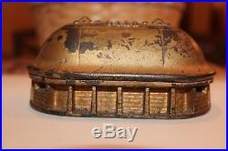 Tabernacle Savings Cast Iron Still Bank Mfg. By Keyless Lock Co. RARE