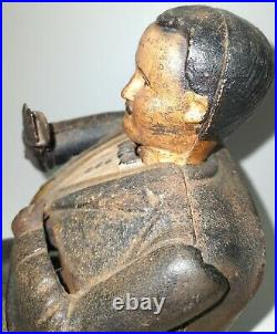 Tammany Hall Boss Tweed Cast Iron Mechanical Bank Old Antique