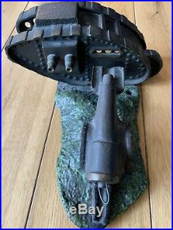 Tank And Cannon Bank Cast Iron Mechanical Bank Cast Bank Starkies Bank Rare AF