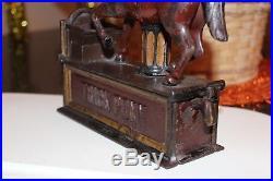 Trick Pony Cast Iron Mechanical Bank Shepard Hardware, Circa 1885, Very Nice