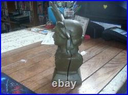 Ultra Rare Vintage Cast Iron Statue of Liberty Bust bank Original