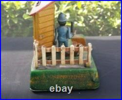 Uncle Remus Mechanical Cast Iron Bank (Reproduction) Barnett Nt'l Bank Florida