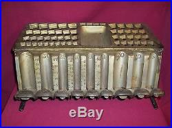VINTAGE 1890 CAST IRON STAATS GOLD/SILVER BANKING MONEY CHANGER
