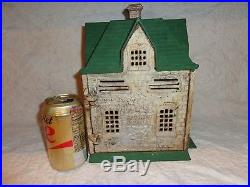 Very Large Vintage House Cast Iron Still Bank Prop. Of the Central Savings Bank