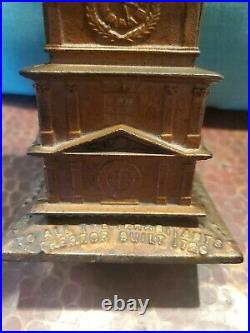 Very Rare 1876 Independence Hall Tower Bell Cast Iron Building Bank -estate Find