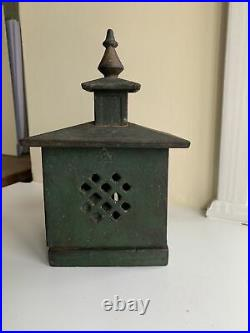 Victorian Or Georgian Money Bank Cast Iron Painted Heavy Box