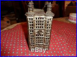 Vintage Antique Cast Iron Architectural Skyscraper Building Bank early 19C WOW
