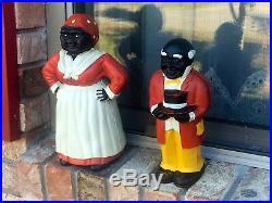 Vintage Banks Cast Iron Aunt Jemima & Pappy Americana Black Folk Art