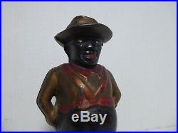 Vintage Black Americana Cast Iron Still Bank Man
