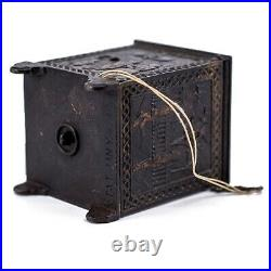 Vintage Cast Iron Antique Kyser & Rex The Roller Safe Coin Bank With Key