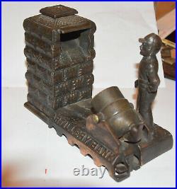 Vintage Cast Iron Artillery Bank (1892, Shepard Hardware Company, Buffalo, NY)