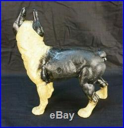 Vintage Cast Iron Boston Terrier Bank