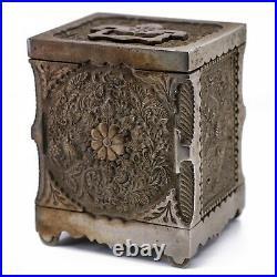 Vintage Cast Iron J & E Stevens Burglar Proof House Safe Bank No 40 Patent 1897