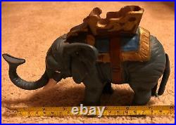 Vintage Cast Iron MECHANICAL Elephant Bank