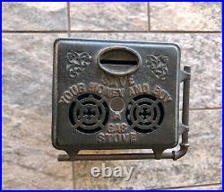 Vintage Cast Iron S. Bernstein & Co Gas Stove Still Advertising Coin Bank 1901