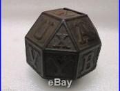 Vintage Childs Toy alphabet block Cast Iron Money Box Piggy Bank