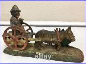 Vintage Circa 1891 Cast Iron BAD ACCIDENT Bank READ DETAILS