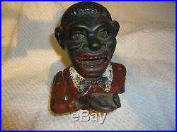 Vintage Early 1900s Cast Iron Jolly Mechanical Bank ENGLAND