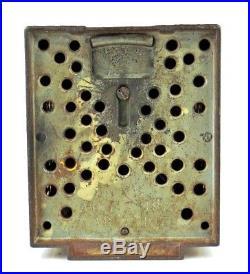 Vintage J & E Stevens Cast Iron Magic Bank Mechanical Bank All Original