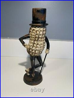 Vintage Planters Mr. Peanut Cast Iron Coin Bank Figurine Very Rare