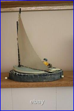 Vintage The Cat Boat cast iron mechanical bank
