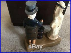 Vintage UNCLE SAM Patriotic Cast Iron Mechanical Bank ARAB OIL FROM Estate