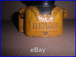 Wonderful old original cast iron Dinah mechanical bank by John Harper pat. 1922