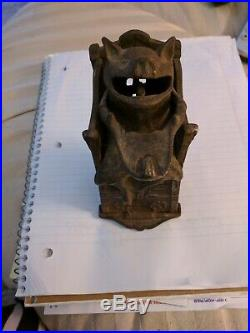 Working antique, cast-iron pig penny bank circa 1875